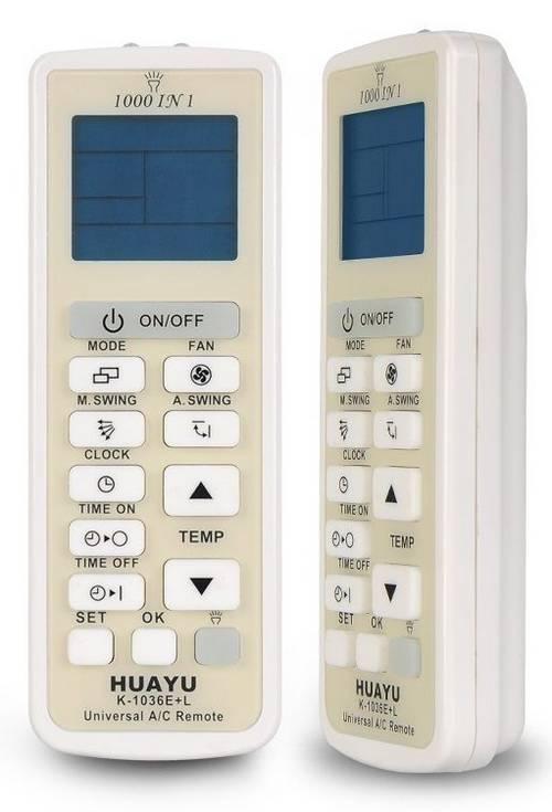 Таблица кодов Huayu K-1036E+L