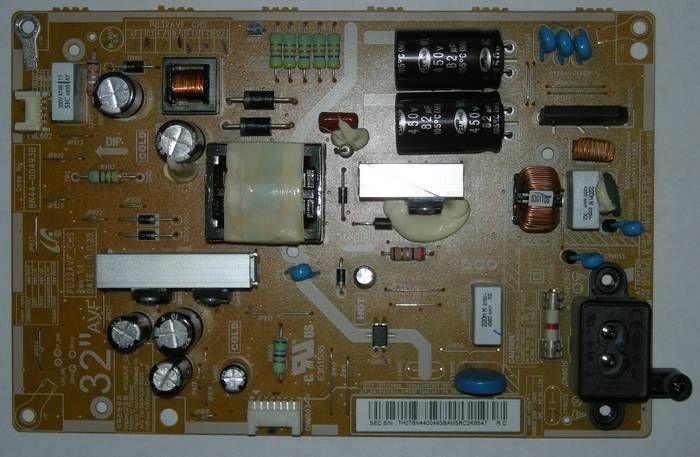 Samsung ue32eh4000w после скачка напряжения, не включается.
